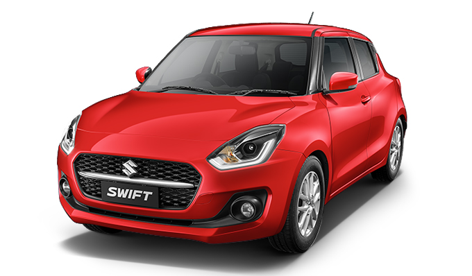 Drive your Solid Fire Red Maruti SWIFT BSVI home from Indus Motors